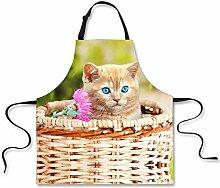 MMCP Küchenschürze, süße Katze und Hund