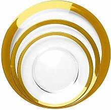 MMGC Große Platte goldenes Glas westlichen Teller