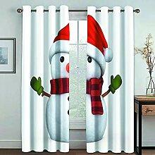 MMHJS 3D Weihnachten Bedruckte Stoffvorhänge,
