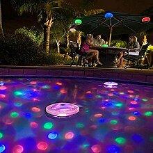 MMilelo LED Unterwasser Disco Strahler
