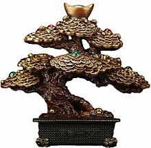 MMJJQWE Feng Shui Wood grainTree Statue, Bonsai