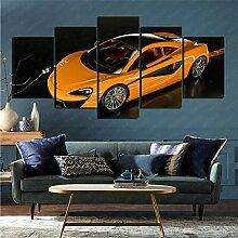 mmkow Acrylmalerei 5 Stück Auto McLaren 570S Bild