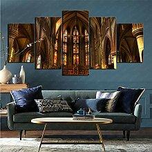 mmkow Acrylmalerei 5 Stück Religiöse Kathedrale