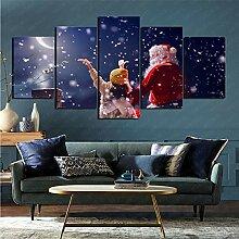 mmkow Panel Wandkunst 5 Stück Urlaub Weihnachten