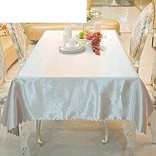 MML ZB Runde tischdecke für hotels,Tischtuch,Stoff-tischdecke,Silbergrau weiße tischdecke-A 140x160cm(55x63inch)