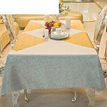 MML ZB Silber-tischdecke,Tischdecke,Länglichen Tisch tischdecke,Hotel tischdecke-A 120x160cm(47x63inch)