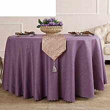 MML ZB Tabelle tuch tischdecke,Fertig nähen einfache und moderne lila rot tischdecke,Hotel tischdecke-A Durchmesser300cm(118inch)
