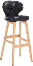 MMLI-Stühle Retro High Hocker Massivholz