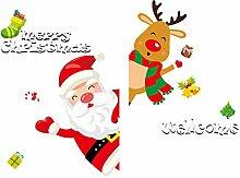 MMLsure  ® Fensteraufkleber Weihnachten,Bunt