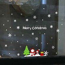 MMLsure  ® Fensteraufkleber Weihnachten