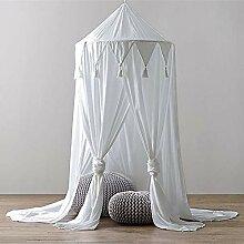 Weiß Betthimmel Baldachin Moskitonetz Fliegengitter Fliegennetz Doppelbett