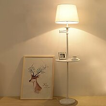 MMM Amerikanische Art Stehlampe Einfaches Wohnzimmer Studie Schlafzimmer Vertikale Tablett Sofa Licht ( Farbe : #1 )