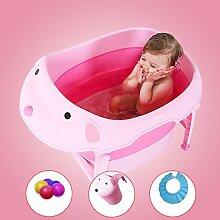 MMM- Baby-Badewanne, bewegliche faltbare Karikatur-Baby-Badewanne passend für Säuglinge 0-6 Jahre alt - Rosa (größe : A)