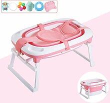 MMM- Babybadewanne, grüne Kindergebrauchs-faltbare tragbare Baby-Badewanne kann Sachen passend für Säuglinge 0-6 Jahre alt setzen (größe : B)