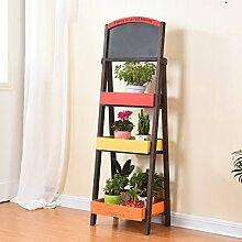 MMM& Blumenständer Massivholz Balkon Blumentopf Rahmen Multilayer Regal Wohnzimmer Pflanze Regale