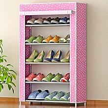 MMM& Einfache Schuh Schrank Stahl Rohr Gewebe Verstärkte Staubdicht Multi - Storey Shoebox Günstige Einfache Schuhe Rack ( Farbe : #1 )