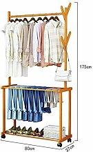 MMMP Holzkleiderständer, Bambus-Rack Schuhregal