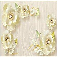 Mmneb 3D Relief Schmuck Blumen Tapete Für