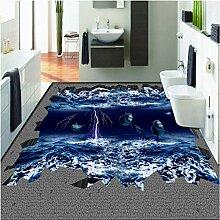 Mmneb 3D-Wandbild für den Boden, Delfin, für