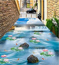 Mmneb Blauer Himmel Wasserfall Lotus Karpfen Bad