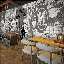 Mmneb Wandtapete mit 3D-Graffiti,