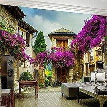 Mmneb Wandtapete mit Blumenmotiv, 3D, Motiv: