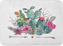 MMPTN Badezimmer böhmischen Stil Kaktus weiche