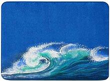 MMPTN Badezimmer Matte weiche saugfähige Blaue