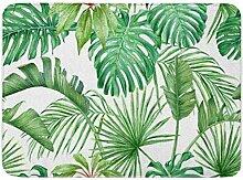 MMPTN Badezimmer weiche Absorption grüne Blätter