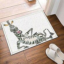 MMPTn Cartoon Kreative Design Zebra Bad Teppiche