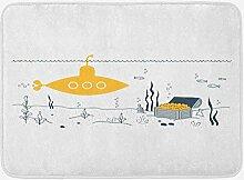 MMPTn Gelbe Meeresboden Badematte Meeresboden