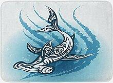 MMPTN Hai Badematte Hammerhead Fisch mit