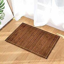 MMPTN Holz Holz Holz Plank Home Badteppiche