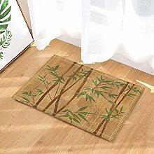 MMPTN Spa Dekore Handgemalte Bambuszweige auf Holz