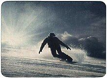 MMPTN Weicher saugfähiger Blauer Snowboarder