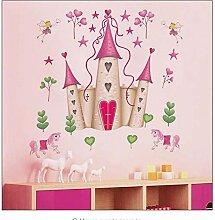 mmwin Abnehmbare Rosa Prinzessin Schloss