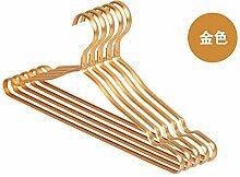 mmynl 10 pack - Raum Aluminium Kleiderbügel Aluminium nach Wäscheständer Rutschfeste Winddicht, Gold