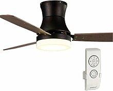 MMYNL Amerikanische Einfache Deckenventilator mit Lampe Modern Retro Ventilator Lampe LOFT Industrial Fan Kronleuchter Wohnzimmer Restaurant Ventilator Lampe