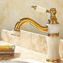 MMYNL Gold voll Kupfer Wasserhahn antiken Hot &