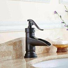 MMYNL Kupfer Schwarz Bronze Mixer Wasserhahn Bad Armatur Waschtischmischer
