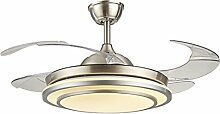 MMYNL Unsichtbare Lüfter einfache Deckenventilator mit Lampe für Wohnzimmer Esszimmer Slim Lüfter Hängeleuchten Schlafzimmer, moderne Mode Lüfter-Leds, dimmbar + Fernbedienung