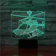 Mmzki Hubschrauber Flugzeug 3D Acryl Nachtlicht