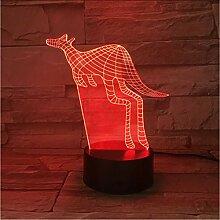 Mmzki Känguru 3D Acryl Nachtlicht Usb Schlaf
