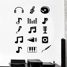 mmzki Wandtattoo Musik Melodie Musiknoten