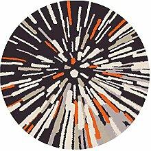 MNII Abstrakte Kunst Runder Teppich Wohnzimmer Schlafzimmer Esstisch Computer Stuhl Kissen Bedside Dekorativer Teppichboden 80 ~ 120cm , 80*80cm [gift giving] , bloom of life- Haus Dekoration