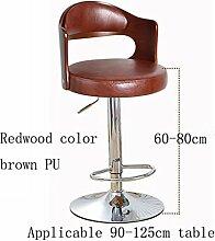 MNII Bar Stuhl Stuhl Synthetik / Leinen Verstellbare drehbare Höhe, Massivholz Stuhl zurück, Swivel Bar Stühle für Haus, Küche, Büro und mehr , 3