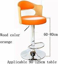 MNII Bar Stuhl Stuhl Synthetik / Leinen Verstellbare drehbare Höhe, Massivholz Stuhl zurück, Swivel Bar Stühle für Haus, Küche, Büro und mehr , 19