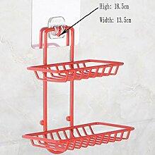 MNII Doppel Sucker Rack Regal Seifenkiste Kreativer Wandseifenhalter Seifenkiste ablassen Badezimmer Küche Regal- Bequeme Dekoration