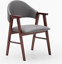 MNII Hocker Massivholz Stuhl Mit Armlehnen sessel Montage Hocker Tuch mit PU kissen Frühstücksstuhl Geeignet für Wohnzimmer studieren 57 * 58,5 * 81,5 cm Feste farbe , 13