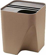 MNII Hotel Kunststoff Stapelbar Sortierung Mülleimer kreativ Körbe zu Hause Desktop Küche groß , brown